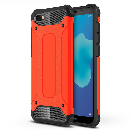 Military Defender Shockproof Case for Huawei Y5 (2018) - Red